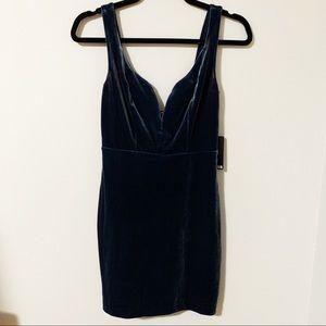 Blue velvet EXPRESS dress
